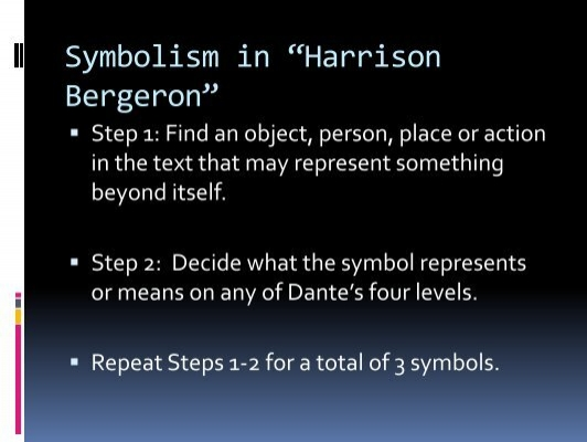 harrison bergeron symbolism