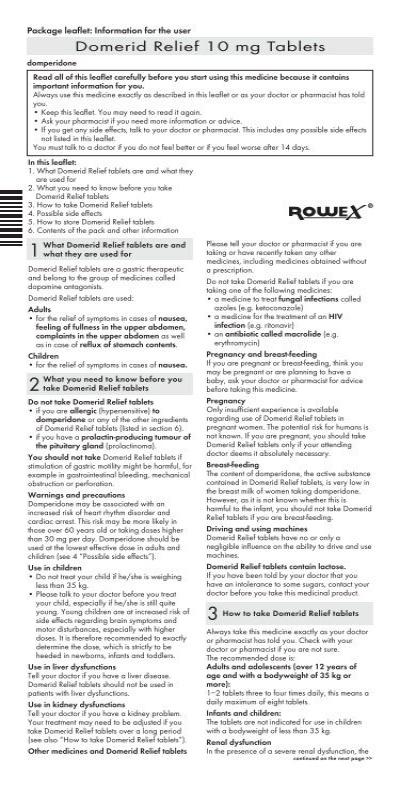 Download Domerid Relief 10mg Pil Here Rowex Ltd