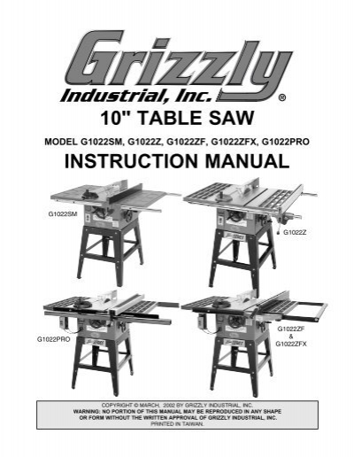 10 table saw grizzly greentooth Choice Image