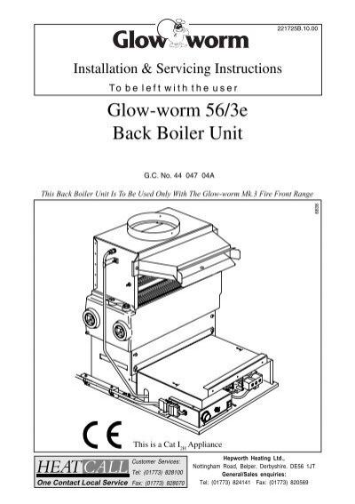 Glow-worm 56/3e Back Boiler Unit - AC Wilgar
