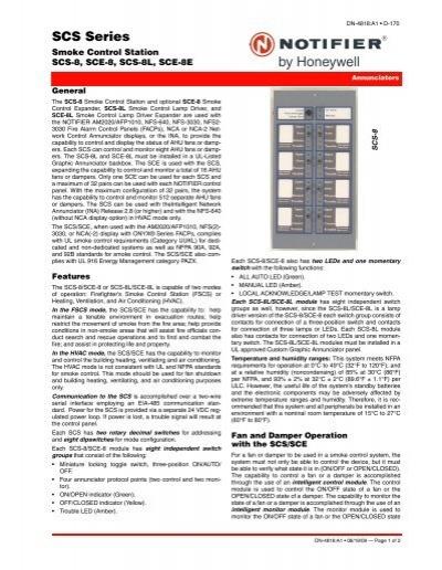SCS Series - Notifier