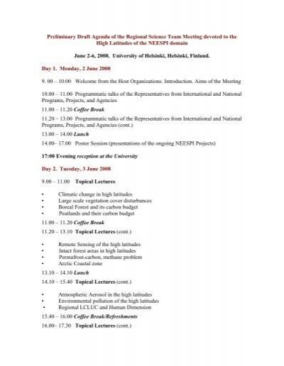 DRAFTPRELIMINARY MEETING AGENDA DOE Office of – Draft Meeting Agenda