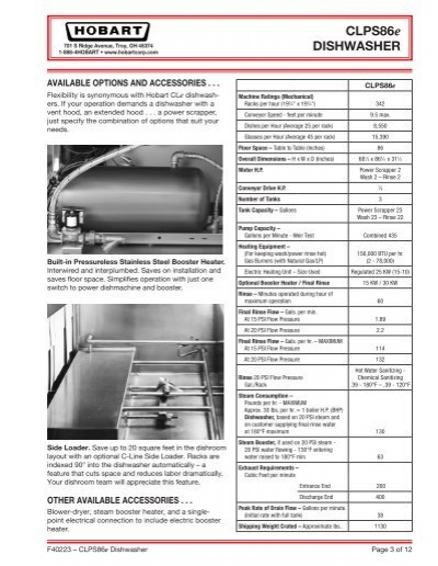 hobart cl64e dishwasher wiring diagram car wiring diagrams explained u2022 rh ethermag co