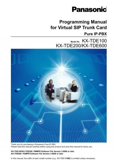 programming manual for virtual sip trunk card kx panasonic rh yumpu com panasonic kx tvm50 programming manual panasonic kx-tvm50 installation manual