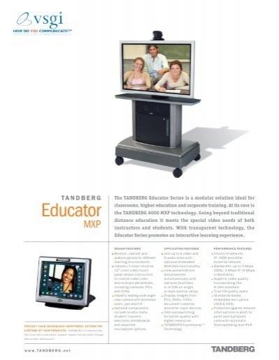 tandberg educator mxp vsgi rh yumpu com Tandberg 7000 MXP Tandberg 3000 MXP