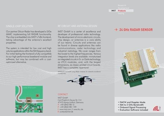 24 GHz RADAR SENSOR - IMST GmbH