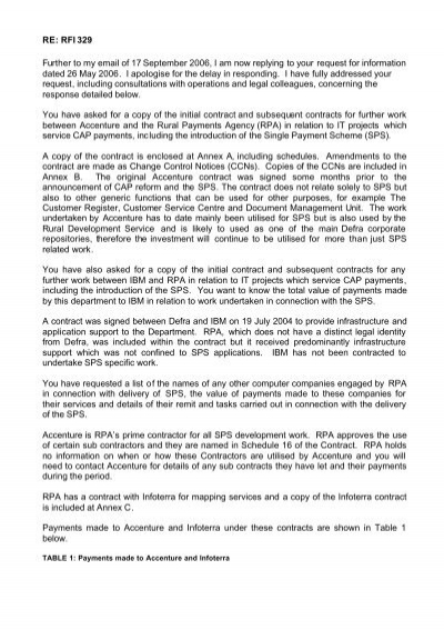 FOI on IT contracts pdf - The Rural Payments Agency - Defra