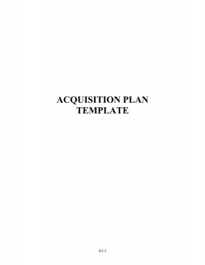 acquisition plan template - Contracting Officer\'s Representative ...