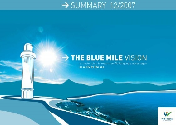 The Blue Mile Vision Wollongong City Council Nsw Government