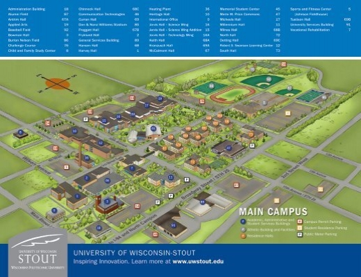 Campus Map   University of Wisconsin Stout