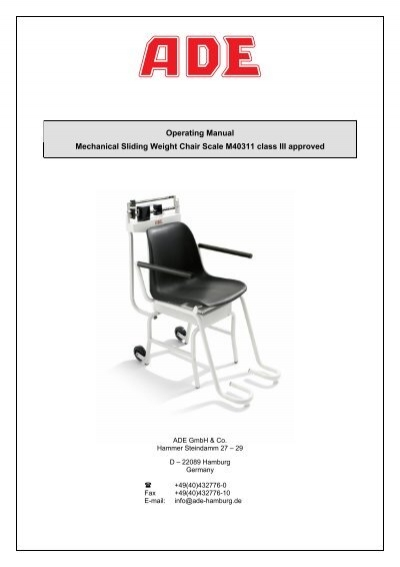 sc 1 st  Yumpu & Operating Manual Mechanical Sliding Weight Chair Scale ... - Dencor