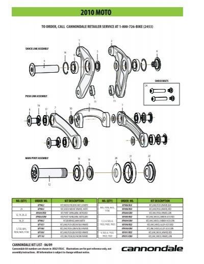 2 Pack KF102// Cannondale Swingarm Housing Guide Grommet