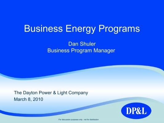 Business Energy Programs (DPu0026L)   Dayton ASHRAE