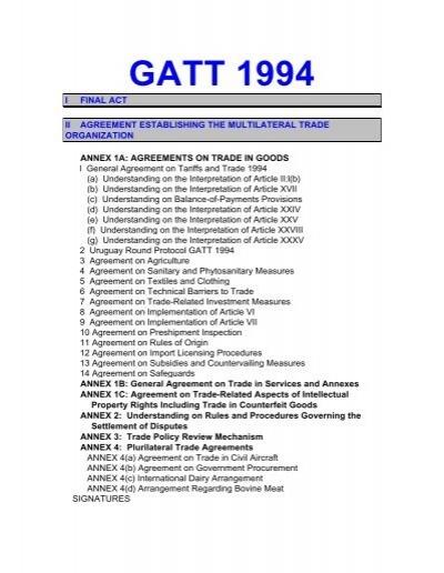 article xxviii gatt 1994