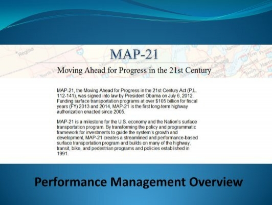 Map 21 Act.Performance Measures