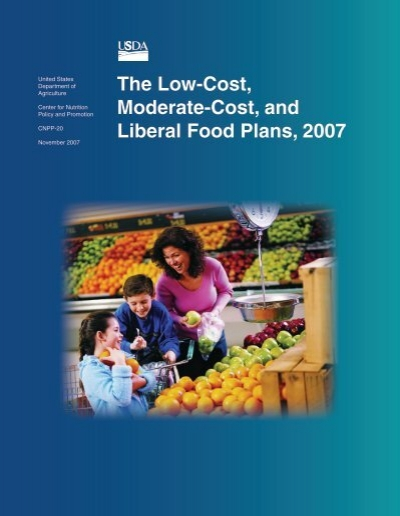 the low cost moderate cost and liberal food plans 2007. Black Bedroom Furniture Sets. Home Design Ideas
