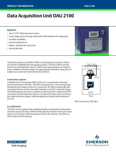 Data Acquisition Unit : Data acquisition unit dau emerson process management