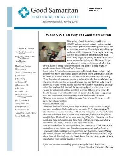 Vol 5-1.pub - Good Samaritan Health and Wellness Center