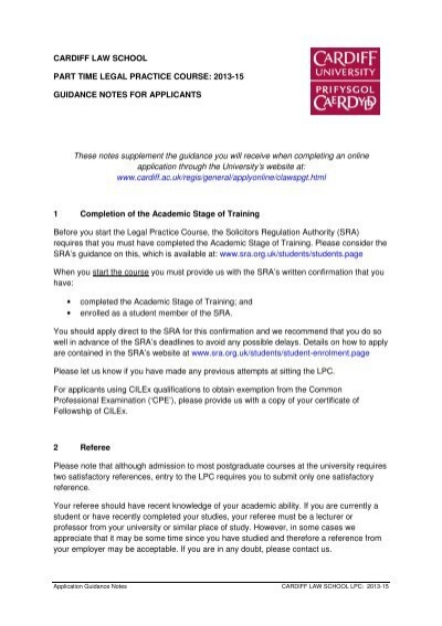 guidance notes - cardiff law school