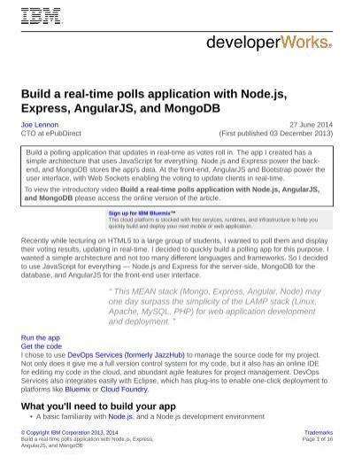 Wa Nodejs Polling App Pdf
