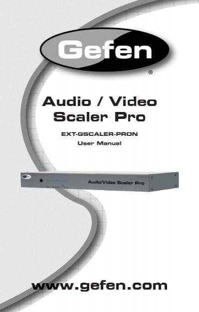 ext gscaler pron user manual gefen rh yumpu com 6 Port HDMI Extender Wireless VGA Transmitter and Receiver