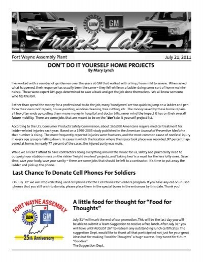 Dont do it yourself home projects a uaw local 2209 solutioingenieria Gallery