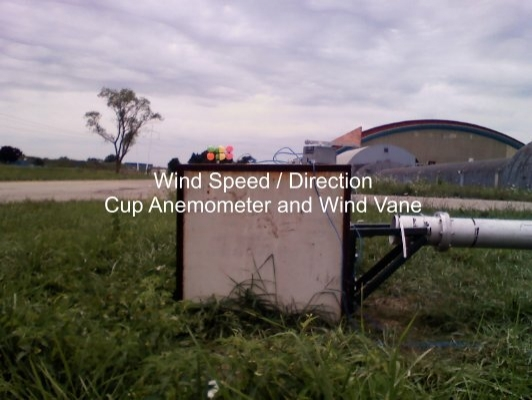 Wind Speed Direction Cup Anemometer And Wind Vane Quarknet