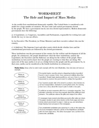 mass media worksheet Did you know that your students can review the target language from our worksheets with our expemo flashcard app to let your student know, just enter their email address below (multiple emails can be separated with a comma.