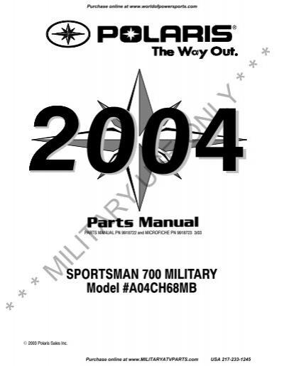 2004 Polaris Sportsman 700 EFI 4x4 Cylinder Head Mounting Bolt 04