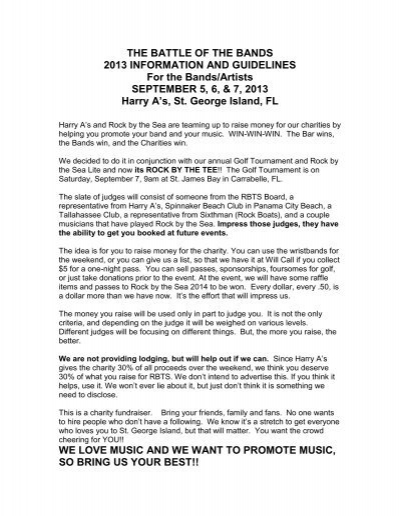 THE BATTLE OF THE BANDS 2013 INFORMATION AND