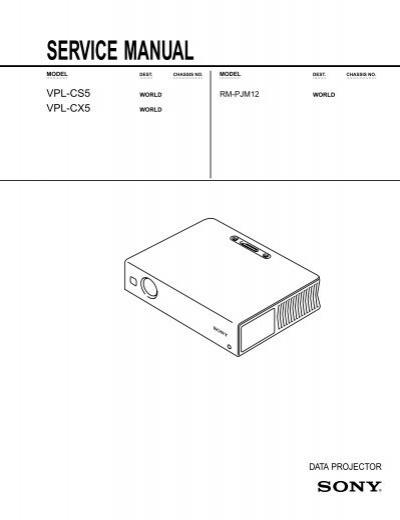 vpl cs5 cx5 service manual hugopoi rh yumpu com sony vpl-cx5 service manual
