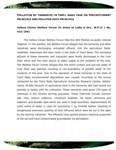 precautionary principle in india
