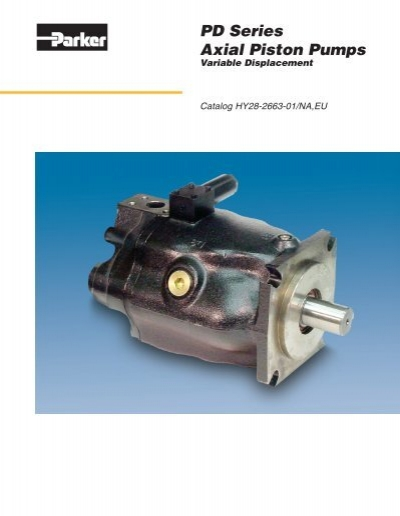 Parker pd series hydraulic variable volume piston for Parker hydraulic motors catalog