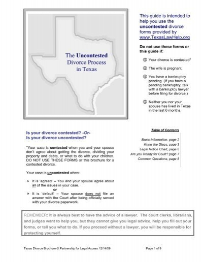 Divorce in texas forms kit legalfill solutioingenieria Images