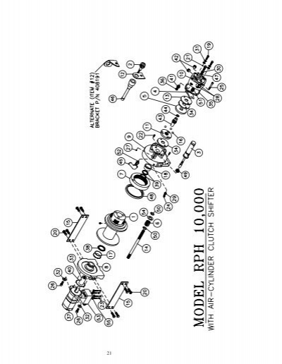 parts list rph 10 000 wit. Black Bedroom Furniture Sets. Home Design Ideas