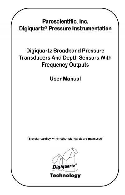 Paroscientific Pressure Transducer Wiring Diagram on