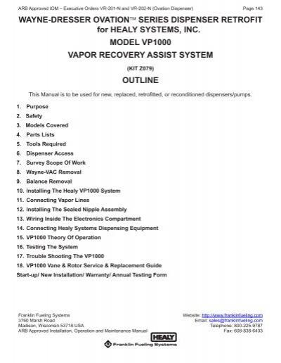 [SCHEMATICS_48IS]  Wayne Ovation Dispenser Retrofit - Franklin Fueling Systems | Ovation Wiring Harness |  | Yumpu