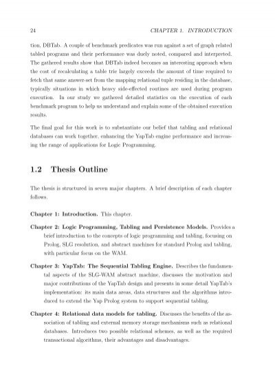masters thesis chapter outline