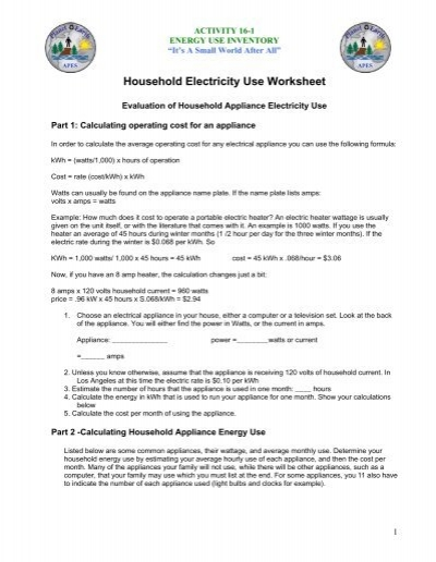 electrical power and energy worksheet - Primus Green Energy