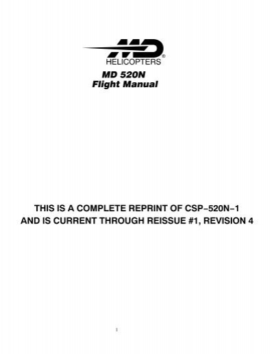 Md 520n flight manual this is a complete. Md helicopters.