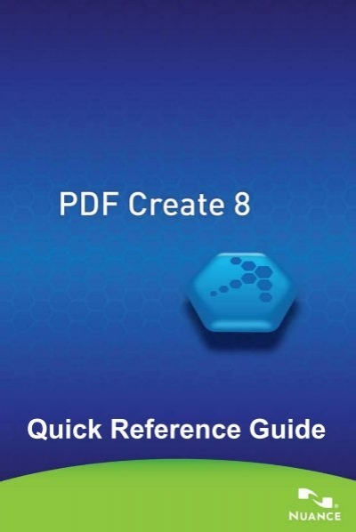 pdf create 8 quick reference guide nuance