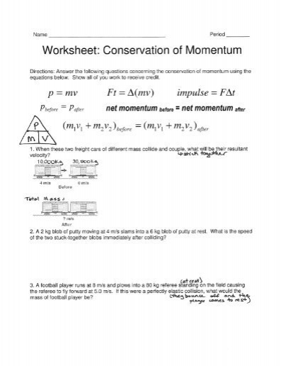 worksheet conservation of momentum free worksheets library download and print worksheets. Black Bedroom Furniture Sets. Home Design Ideas