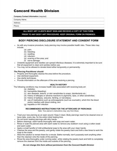 28+ [piercing consent form] | release form liability forms ...