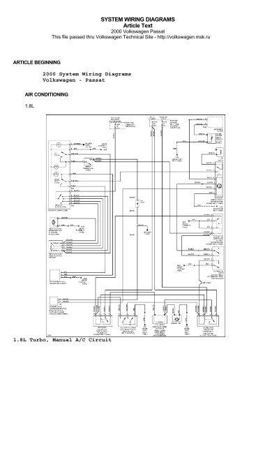 volkswagen passat 2000 system wiring diagrams vems hu rh yumpu com 2003 vw passat electrical diagram 2003 vw passat electrical diagram
