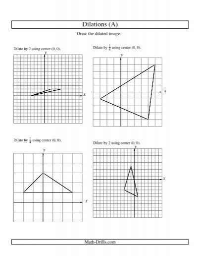 geometry worksheet dilations using center 0 0. Black Bedroom Furniture Sets. Home Design Ideas