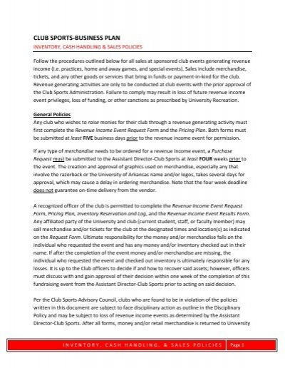 sports academy business plan pdf