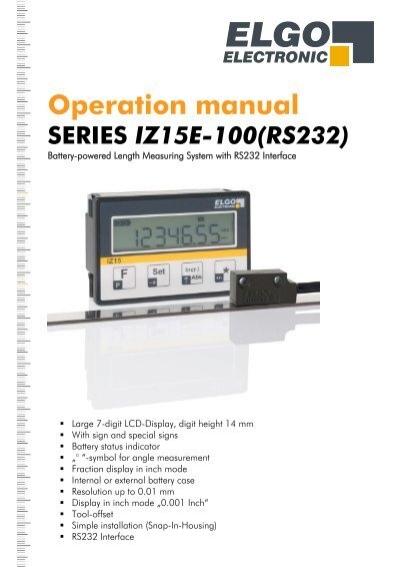 IZ15E 100 ELGO Electric GmbH