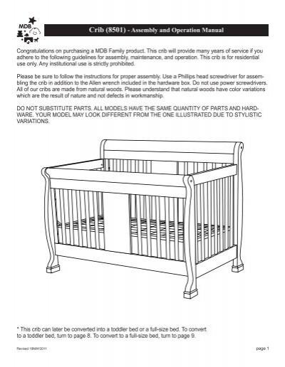 crib 8501 assembly and operation manual davinci baby rh yumpu com Philips TV Manual Philips TV Manual