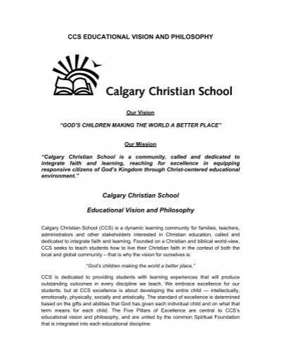christian teaching philosophy
