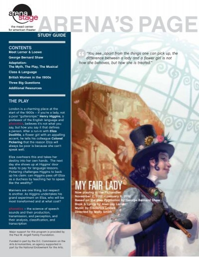 my fair lady study guide My fair lady quiz study guide for the matching and true/false sections of the test study play what original story is my fair lady based on the pygmalion myth.